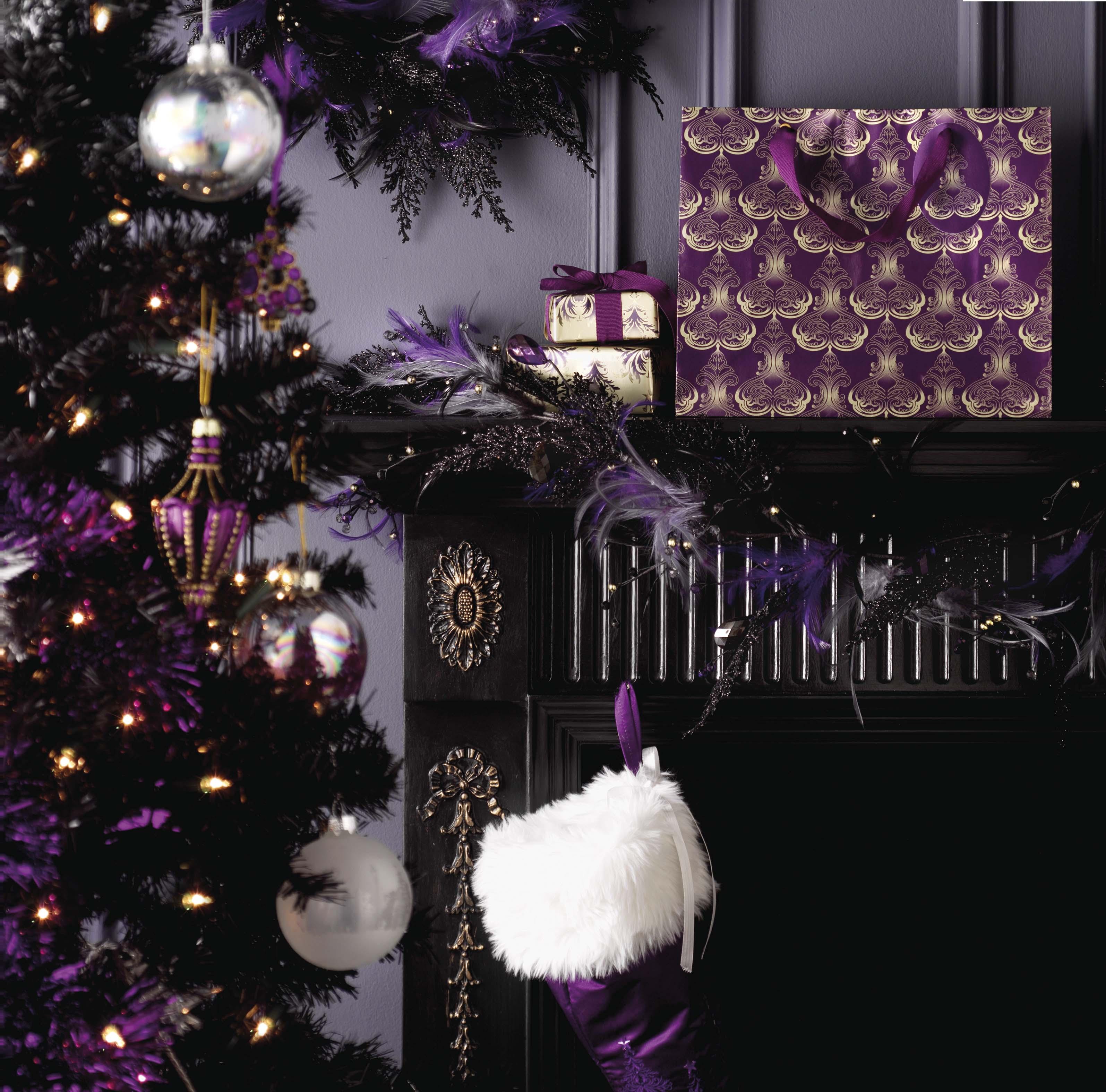 стильная картинка с новым годом фиолетовая и серая медленно теряли