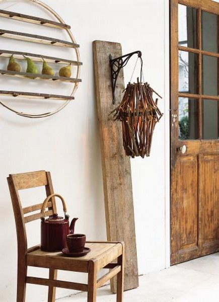 Оригинальные предметы интерьера из дерева фото